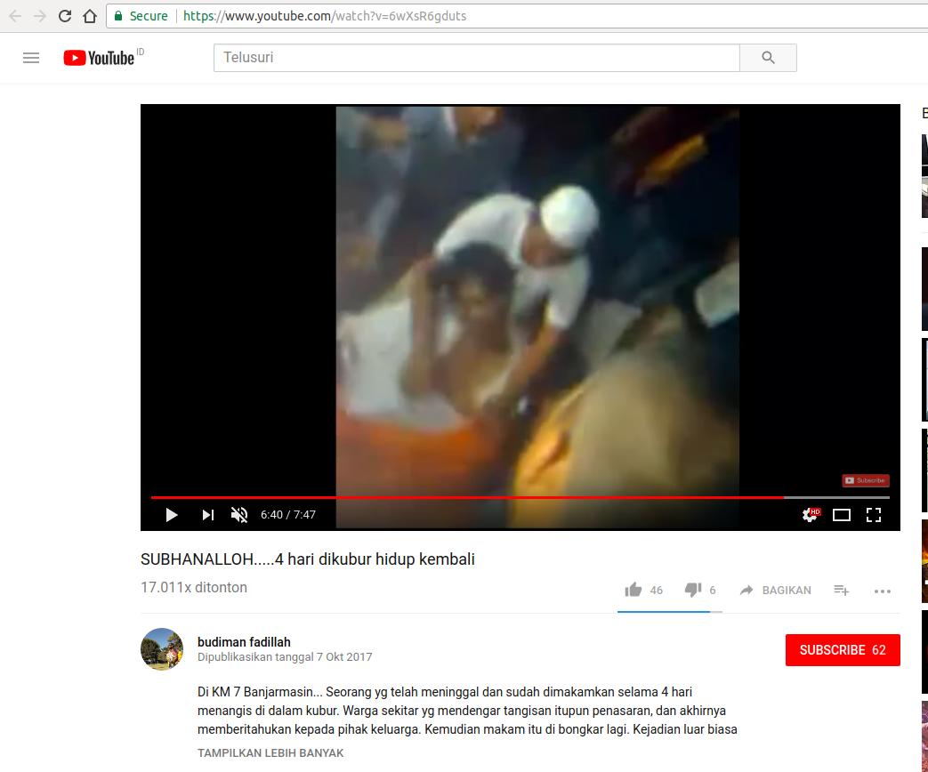 SALAH]: Video Orang Yang Telah di Makamkan Selama 4 Hari