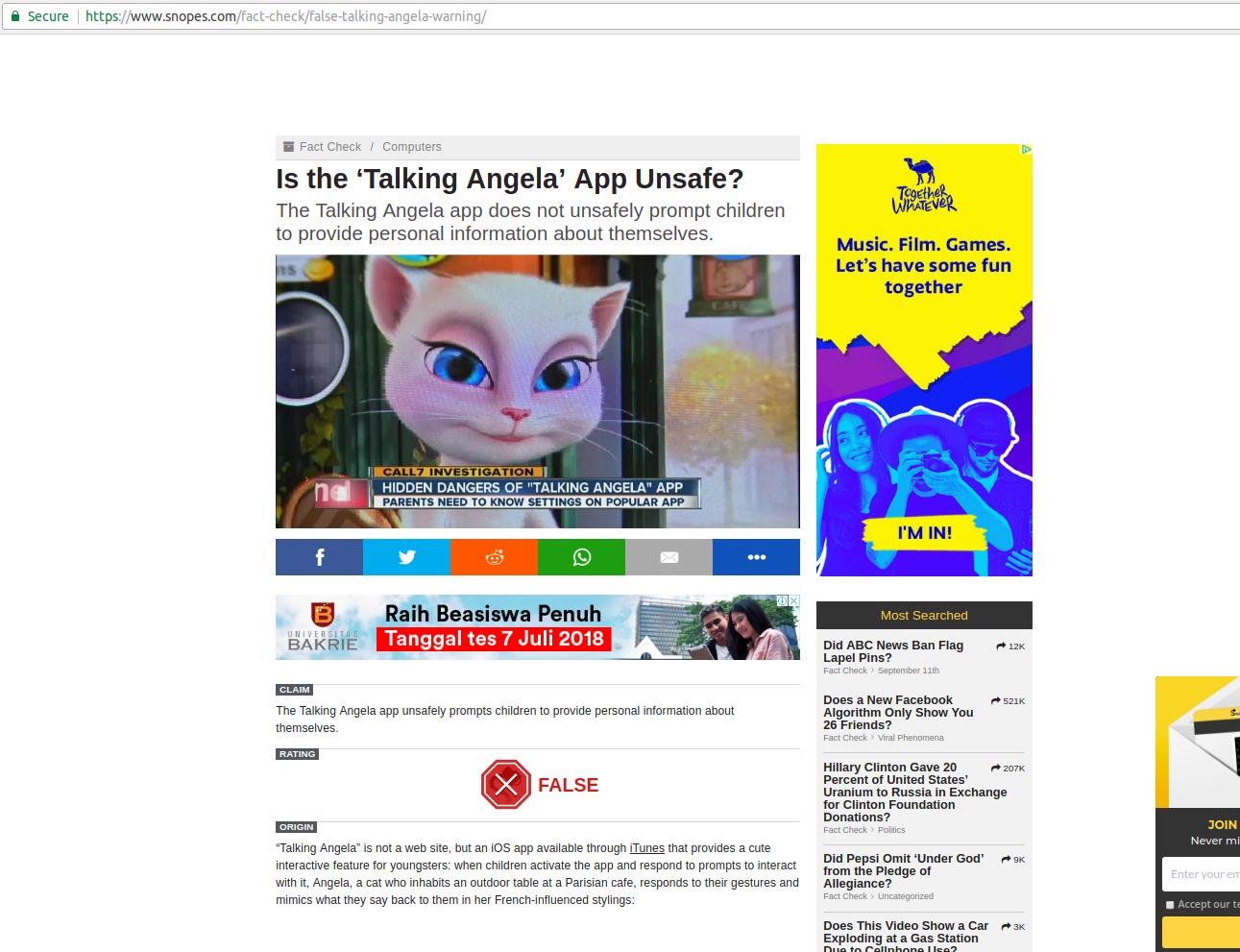 SALAH] Aplikasi Game Talking Angela Berbahaya Khususnya