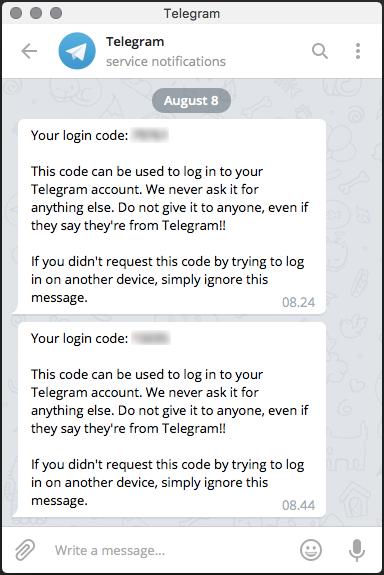 Salah Pembajakan Akun Aplikasi Telegram Melalui Pemulihan Kata