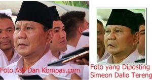 Salah | Foto Bibir Miring Prabowo Pertanda Stroke Ringan