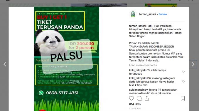 Benar Klarifikasi Taman Safari Indonesia Terkait Harbonas