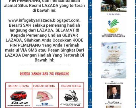 Salah Pesan Berantai Lazada Grand Prize Hadiah Ratusan Juta
