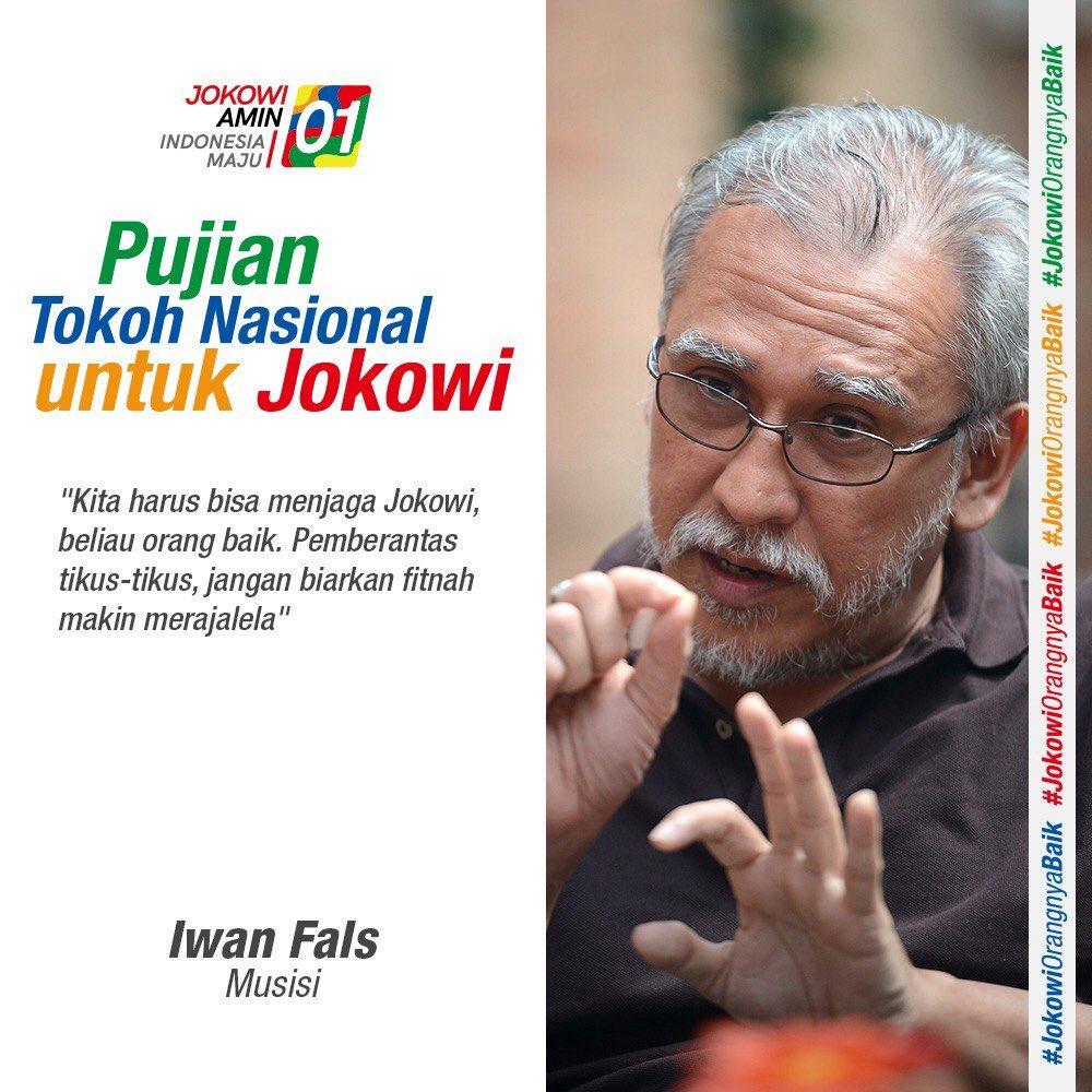 Benar Penjelasan Iwan Fals Terkait Foto Salam 2 Jari Dan Poster