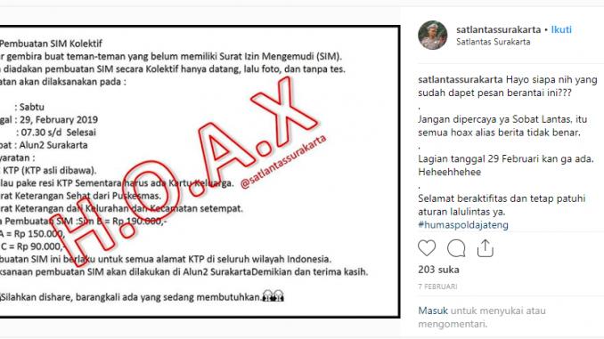 Salah Info Pembuatan Sim Kolektif Di Alun Alun Surakarta