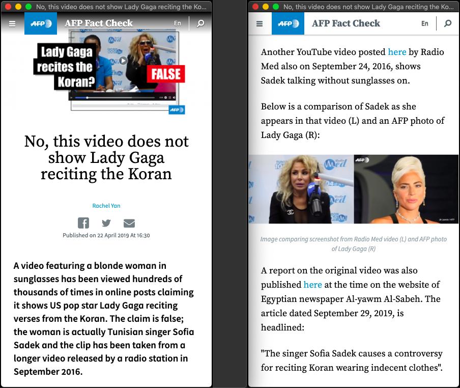 Salah Lady Gaga Melantunkan Surat Ad Duhaa Turnbackhoax