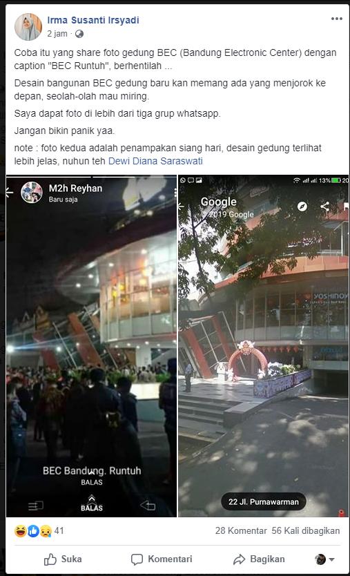 [SALAH] Bandung Electronic Center (BEC) runtuh