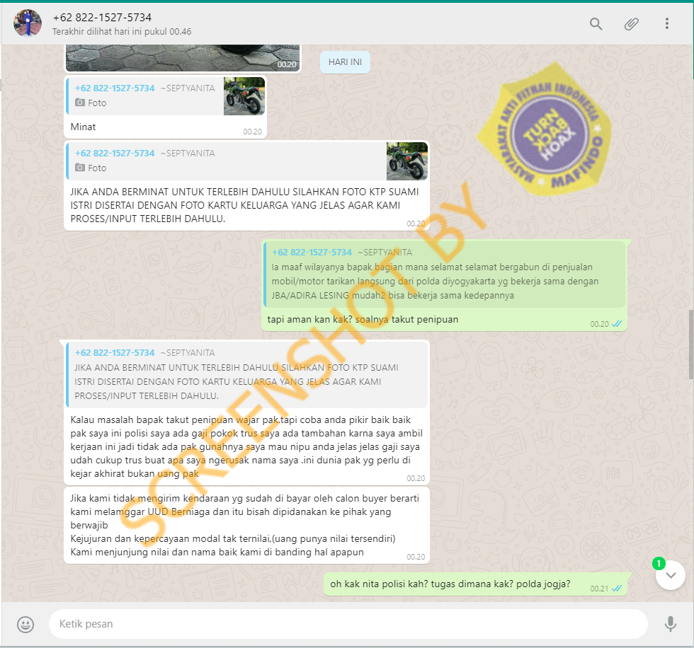 Klarifikasi Polda D I Yogyakarta Tidak Pernah Bekerja Sama