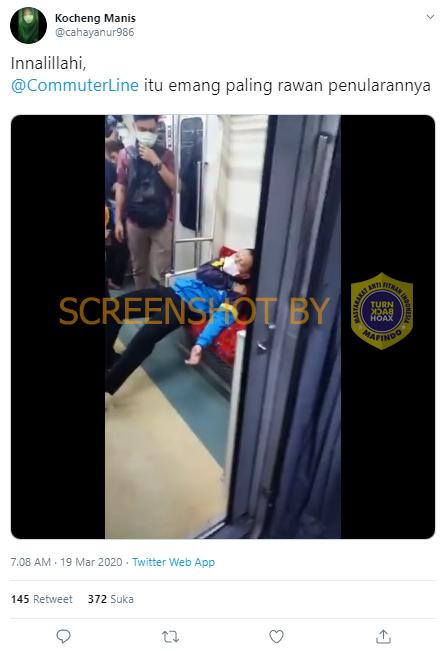"""[SALAH] Video """"Innalillahi, @CommuterLine itu emang paling rawan penularannya"""""""