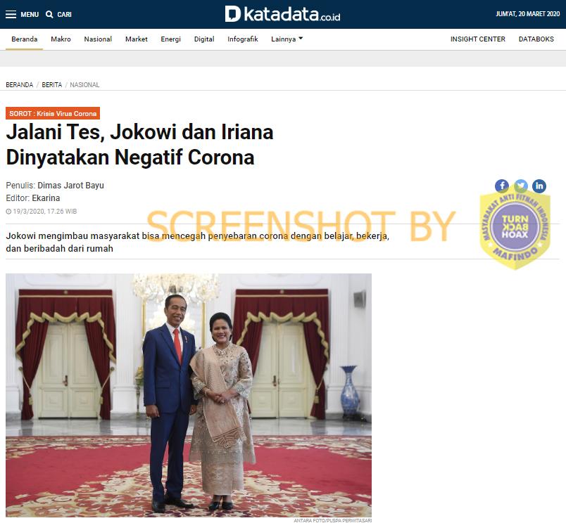 [SALAH] Jokowi Positif Corona