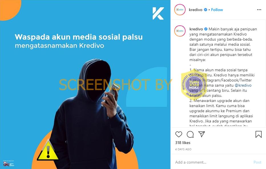 Salah Akun Kredivo Ojk Milik Kredivo Indonesia Turnbackhoax