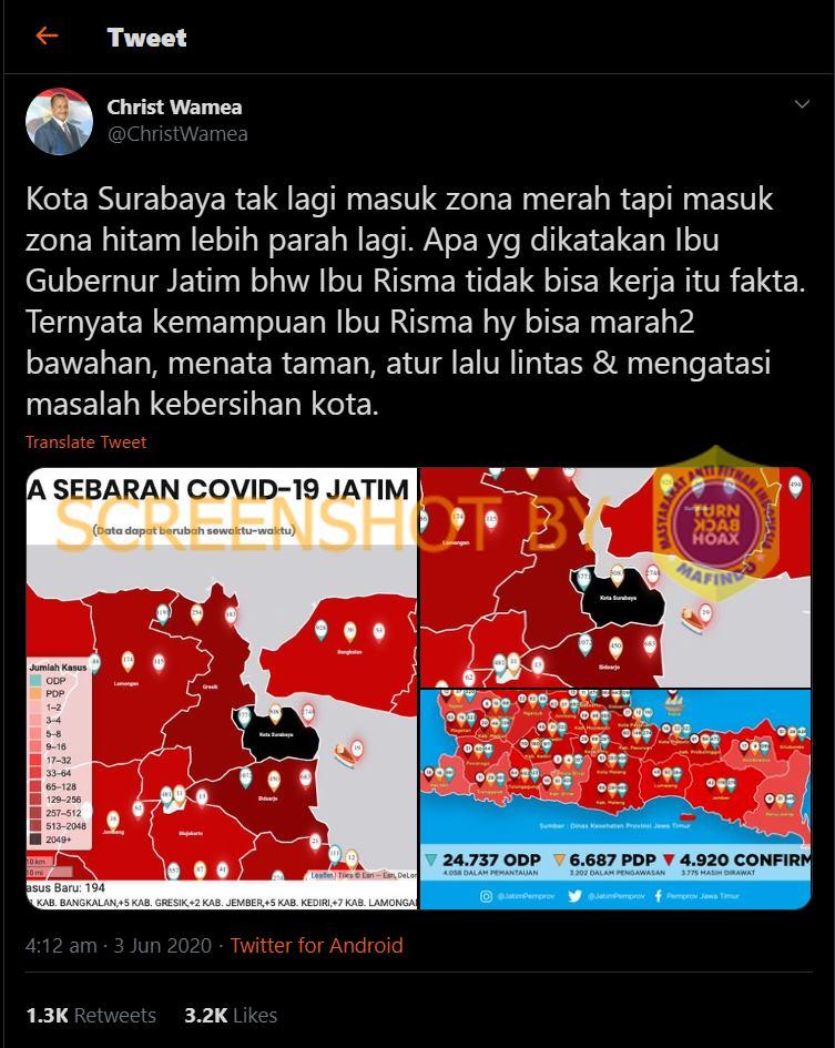 Salah Zona Hitam Surabaya Hoax Buster Covid19 Go Id