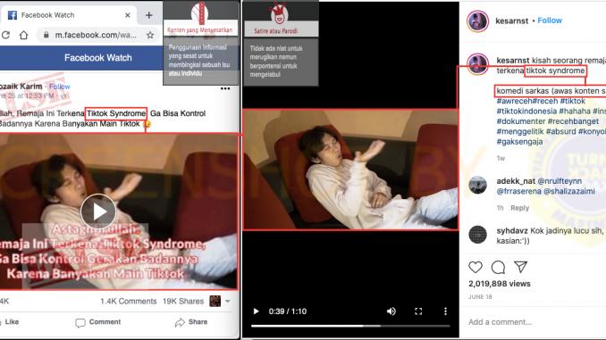 Salah Video Remaja Ini Terkena Tiktok Syndrome Turnbackhoax Id