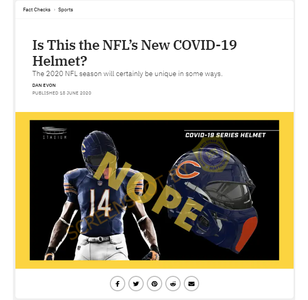 Salah Desain Helm Covid 19 Pada Kompetisi Nfl Turnbackhoax