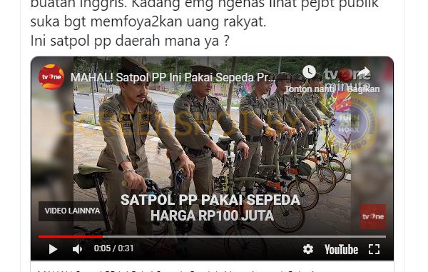 [HOAKS atau FAKTA ]: Satpol PP Makassar Gunakan Sepeda Brompton Harga Seratus Jutaan