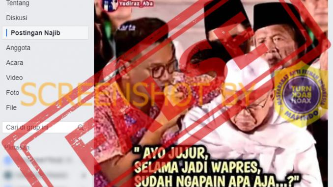 """[SALAH] Foto """"Uya Kuya Menghipnotis Wapres Maruf Amin"""""""
