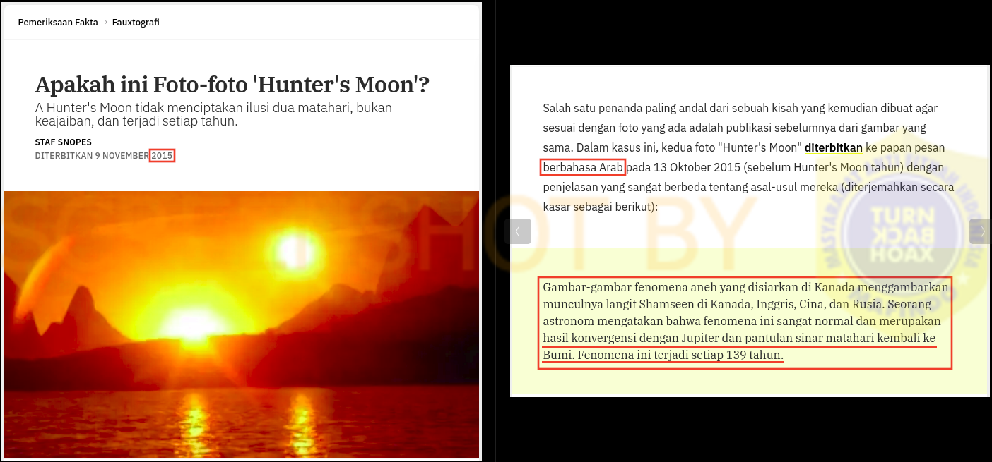 """SALAH """"dua matahari Lunar Hunter"""" - TurnBackHoax"""
