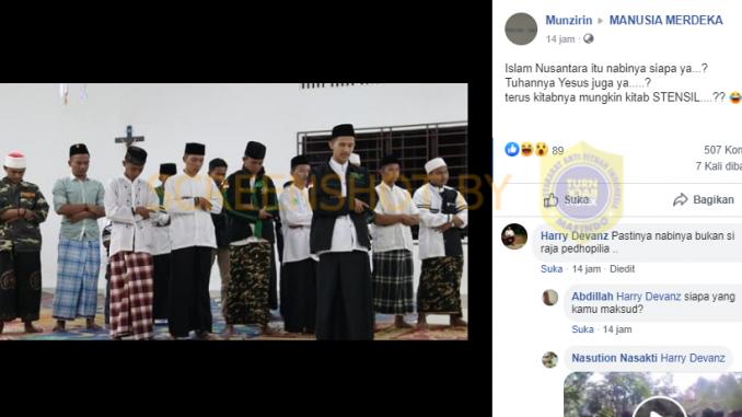 [HOAKS atau FAKTA]: Anggota Islam Nusantara Salat Magrib di Dalam Gereja