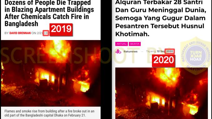 [HOAKS atau FAKTA]: Pesantren Alquran Terbakar, Puluhan Santri dan Guru Meninggal