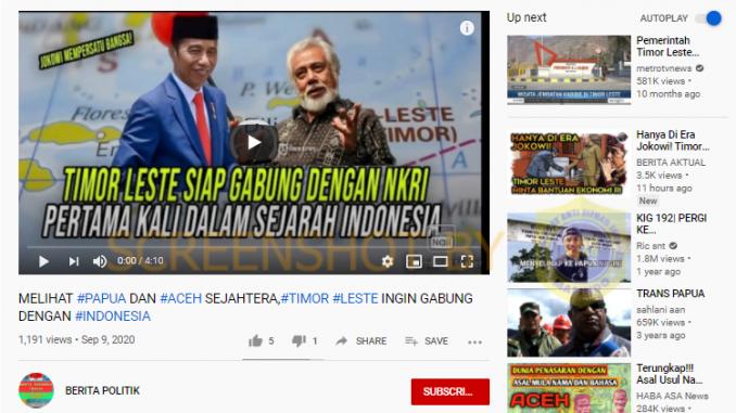 [HOAKS atau FAKTA]: Melihat Papua Maju, Timor Leste Ingin Balik ke Indonesia