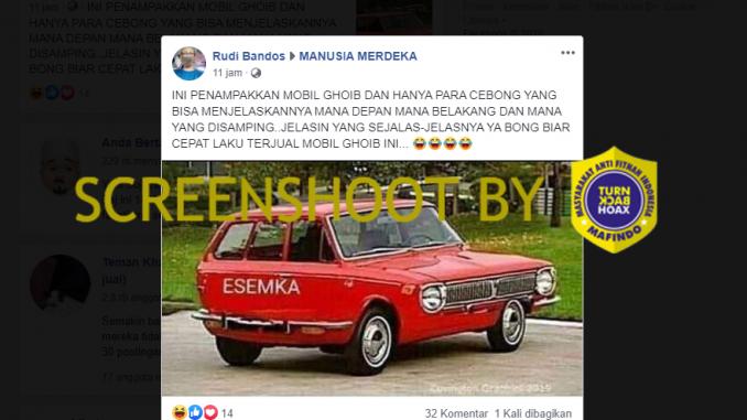 [HOAKS atau FAKTA]: Penampakan Aneh Mobil Esemka Viral di Media Sosial