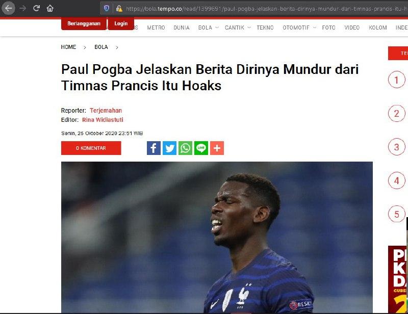 SALAH Paul Pogba Keluar dari Timnas Perancis Karena ...