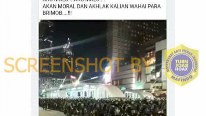 [HOAKS atau FAKTA]: Brimob Seluruh Indonesia ke Jakarta untuk Perangi Warga