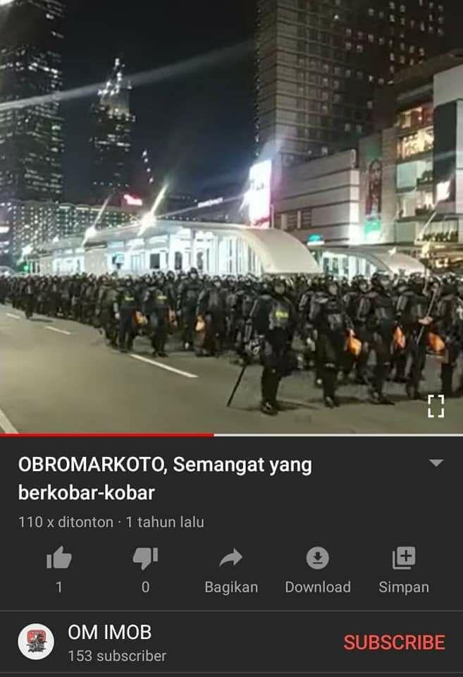 Tangkapan layar Youtube terkait pengamanan ibu kota olah Brimob. (Foto: MP/turnbackhoax.id)