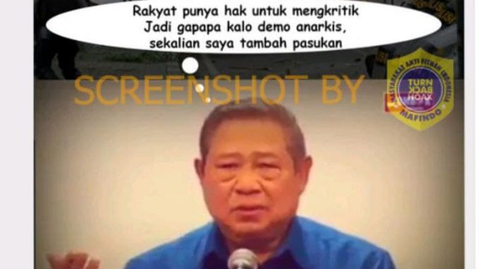 [HOAKS atau FAKTA]: Negara Demokrasi SBY Izinkan Massa Unjuk Rasa Anarkis