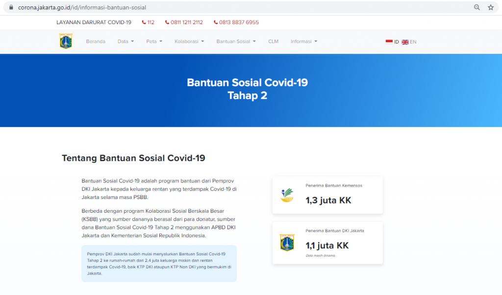 Salah Link Untuk Mengecek Daftar Kk Penerima Bansos Rp300 Ribu Dki Jakarta Per Januari 2021 Hoax Buster Covid19 Go Id