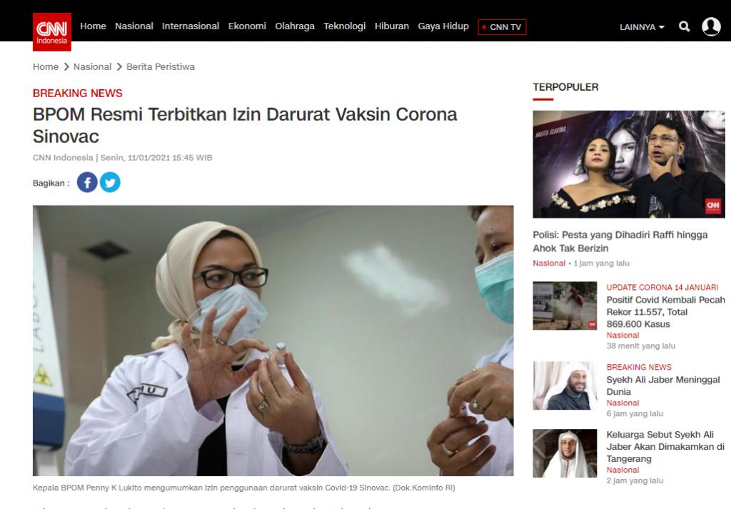 SALAH Jokowi Menggunakan Vaksin Buatan Eropa - Berita ...