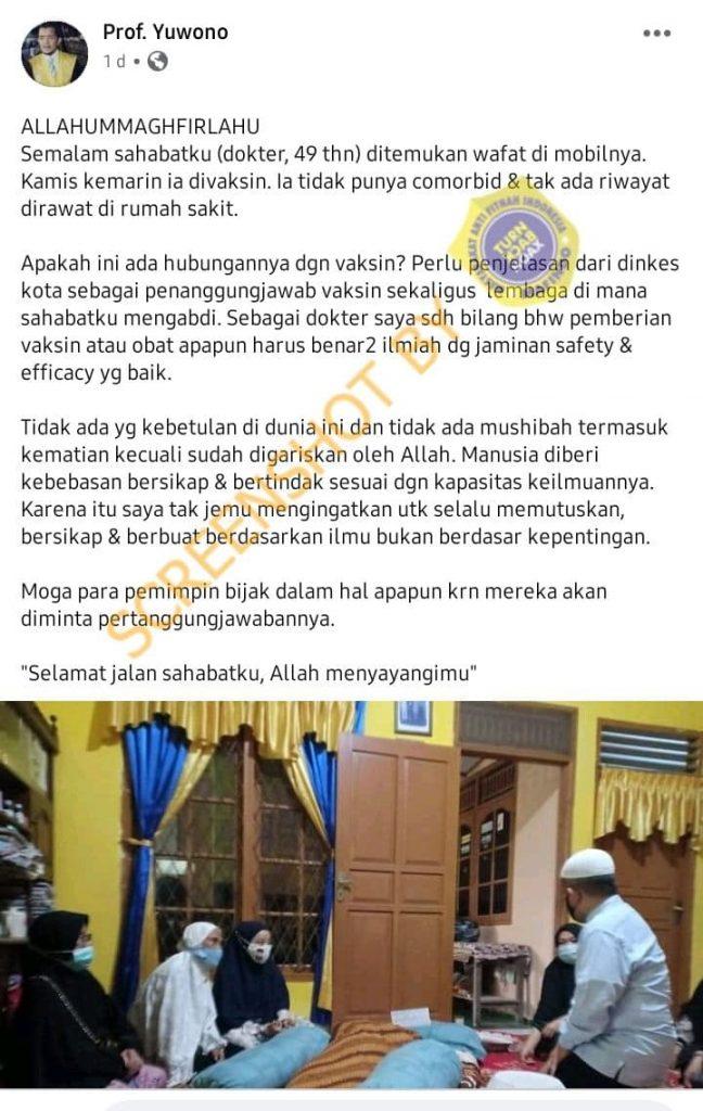 SALAH Karena Disuntik Vaksin, Dokter di Palembang ...